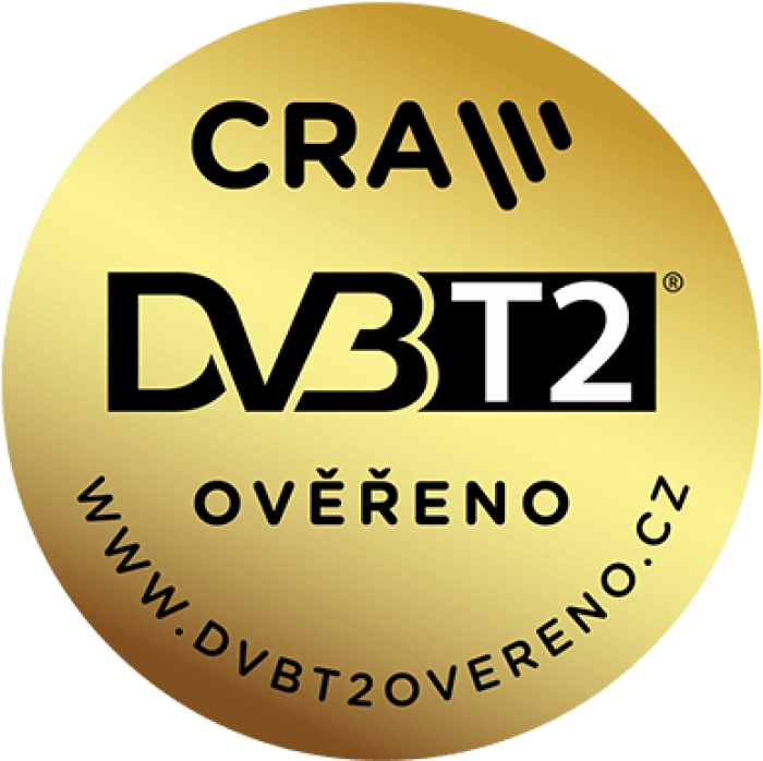 DVB-T2 Ověřeno DI-WAY T2 ONE HEVC H.265